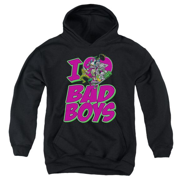Dc I Heart Bad Boys Youth Pull Over Hoodie