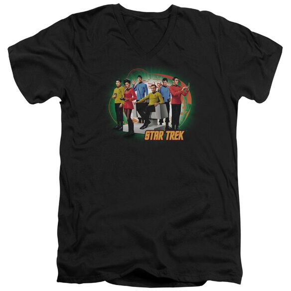 Star Trek Enterprises Finest Short Sleeve Adult V Neck T-Shirt