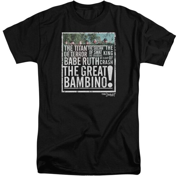 Sandlot The Great Bambino Short Sleeve Adult Tall T-Shirt