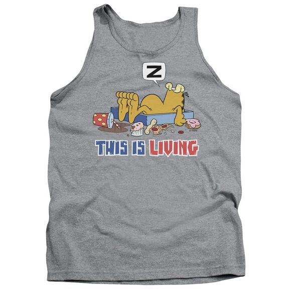Garfield This Is Living - Adult Tank - Athletic Heather