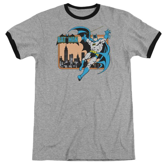 Dc Batman In The City - Adult Ringer - Heather/black