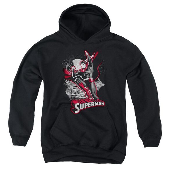 Jla Superman Red & Gray Youth Pull Over Hoodie