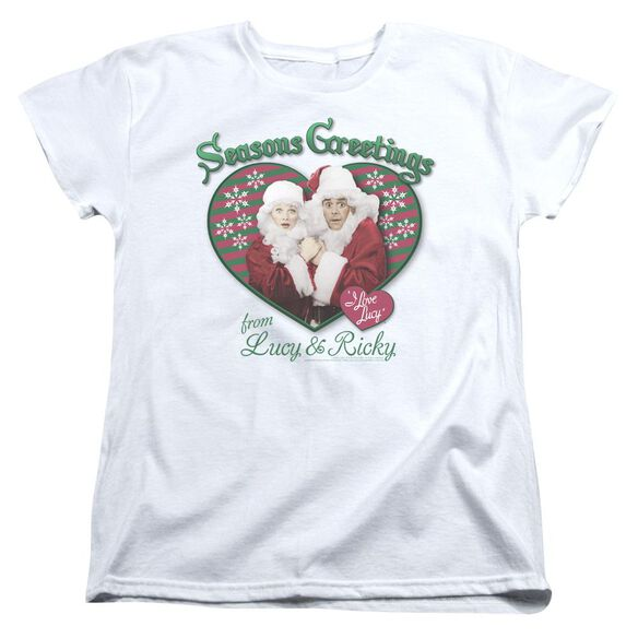 I Love Lucy Seasons Greetings Short Sleeve Womens Tee T-Shirt
