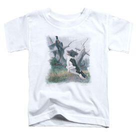 Wildlife Springer With Pheasant Short Sleeve Toddler Tee White T-Shirt