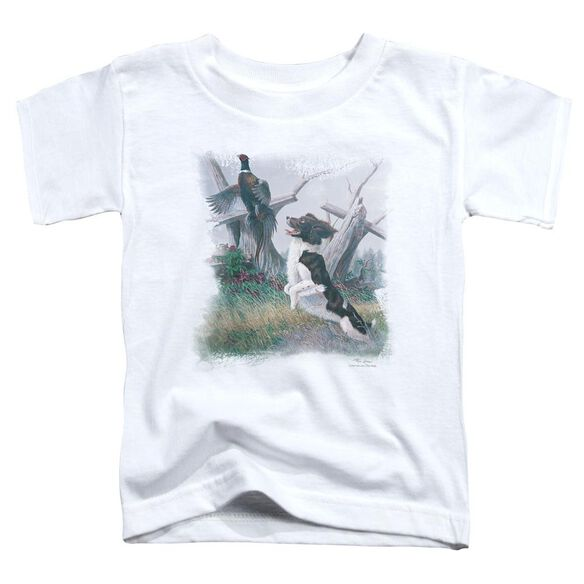 Wildlife Springer With Pheasant Short Sleeve Toddler Tee White T-Shirt