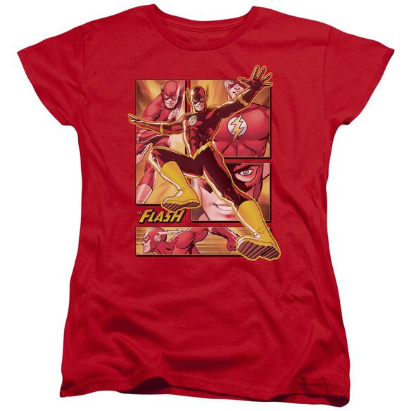 Jla Flash Short Sleeve Womens Tee T-Shirt