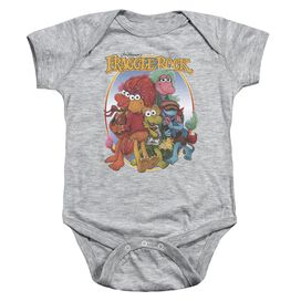 Fraggle Rock Group Hug Infant Snapsuit Athletic Heather