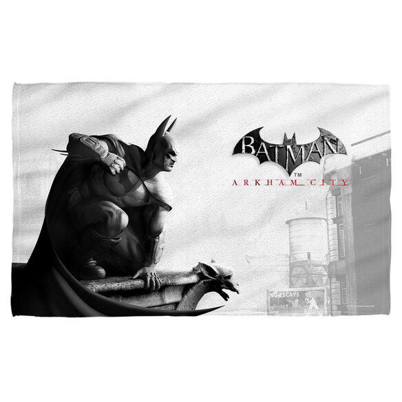 Batman Arkham City Ac Logo Towel White