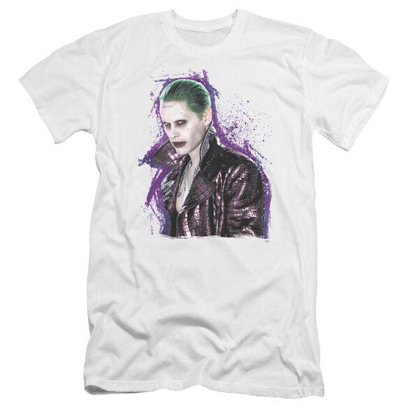 Suicide Squad Joker Stare Premuim Canvas Adult Slim Fit