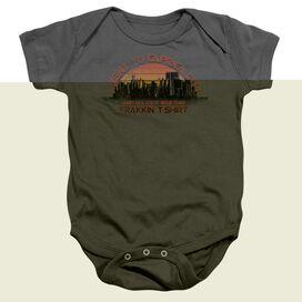 Bsg Caprica City - Infant Snapsuit - Charcoal