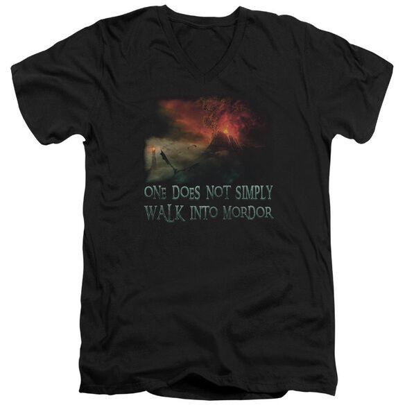 Lor Walk In Mordor Short Sleeve Adult V Neck T-Shirt