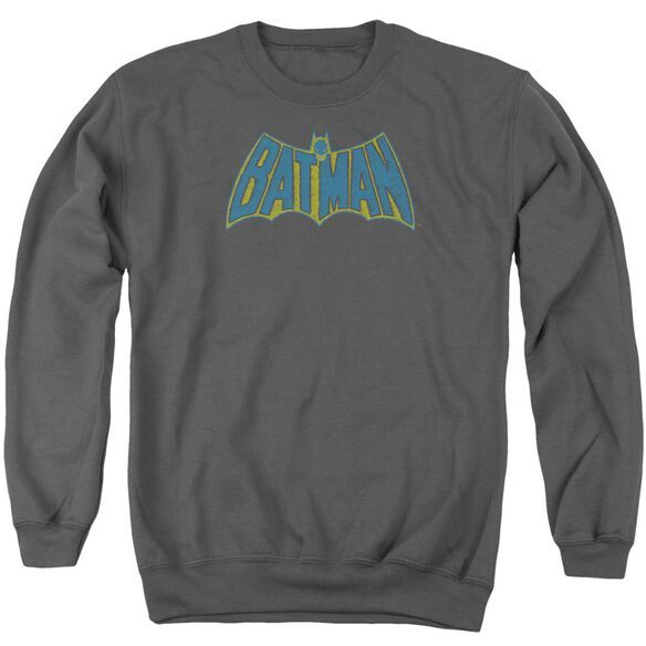 Batman Sketch Logo - Adult Crewneck Sweatshirt - Charcoal