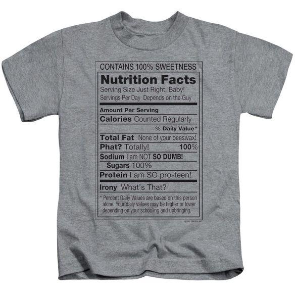 100% Sweetness Short Sleeve Juvenile Athletic T-Shirt