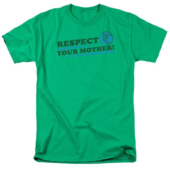 Respect Your Mother 2 Short Sleeve Adult Kelly Green T-Shirt