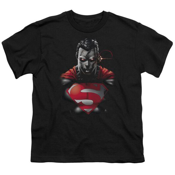 SUPERMAN HEAT VISION CHARGED - S/S YOUTH 18/1 - BLACK T-Shirt