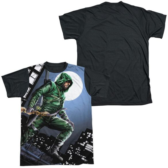 Arrow Night Watch Short Sleeve Adult Front Black Back T-Shirt