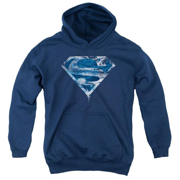 Superman Water Shield Youth Pull Over Hoodie