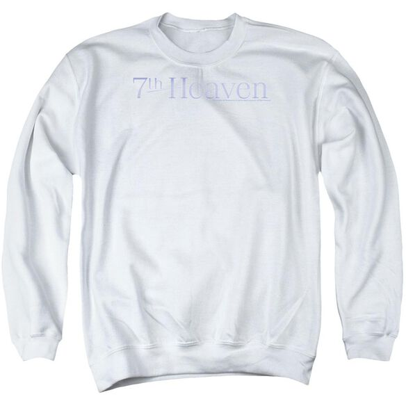 7th Heaven 7th Heaven Logo - Adult Crewneck Sweatshirt - White