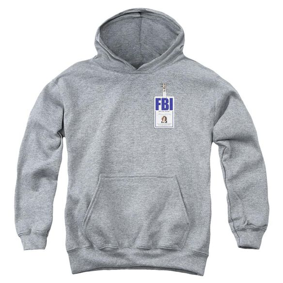 X Files Scully Badge Youth Pull Over Hoodie Athletic