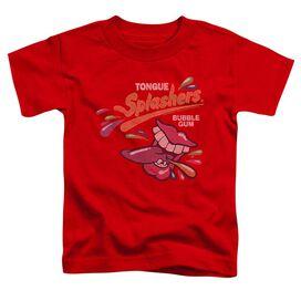 Dubble Bubble Distress Logo Short Sleeve Toddler Tee Red Lg T-Shirt