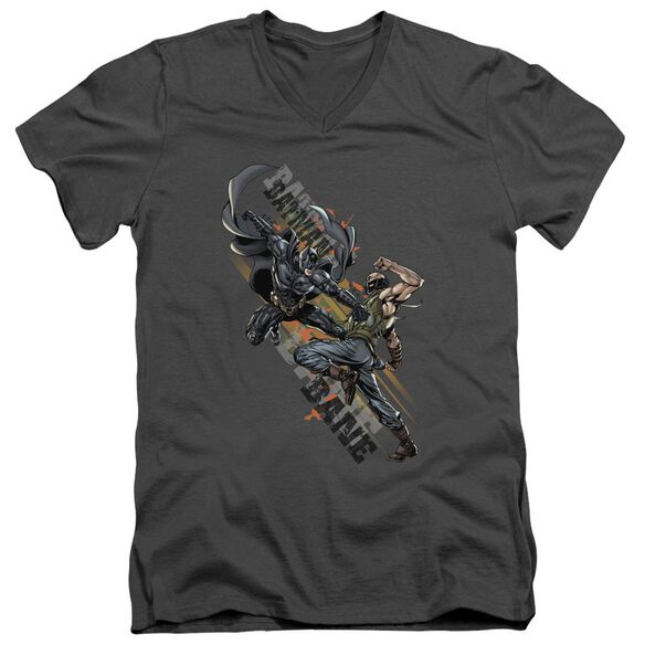 Dark Knight Rises Attack Short Sleeve Adult V Neck T-Shirt