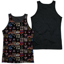 Kiss Album Covers Adult Poly Tank Top Black Back