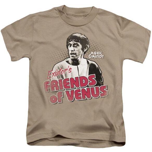 Mork & Mindy Friends Of Venus Short Sleeve Juvenile Sand T-Shirt