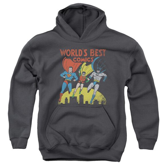 Jla World's Best Youth Pull Over Hoodie