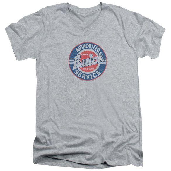 Buick Authorized Service Short Sleeve Adult V Neck Athletic T-Shirt