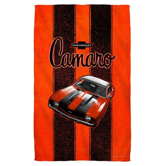 Chevrolet Camaro Stripes Towel White