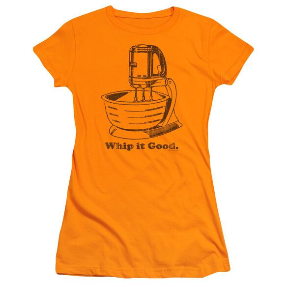 Whip It Good Short Sleeve Junior Sheer T-Shirt