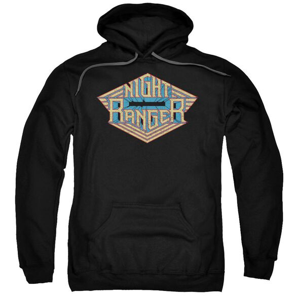 Night Ranger Logo Adult Pull Over Hoodie Black