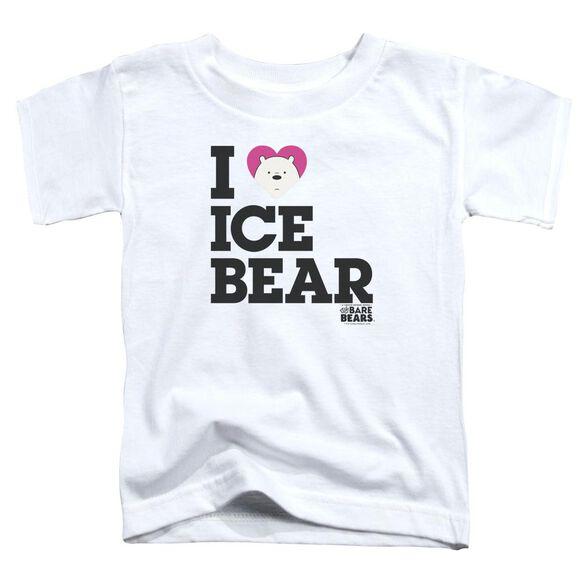 We Bare Bears Heart Ice Bear Short Sleeve Toddler Tee White T-Shirt