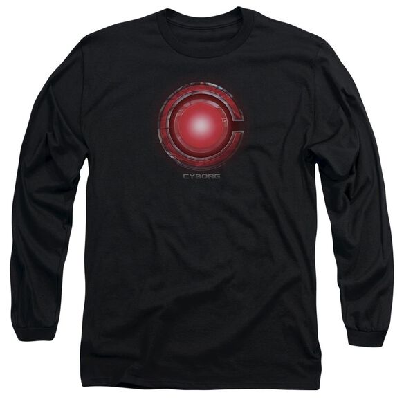 Justice League Movie Cyborg Logo Long Sleeve Adult T-Shirt