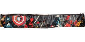 Deadpool Good Bad Ugly Trio Seatbelt Mesh Belt
