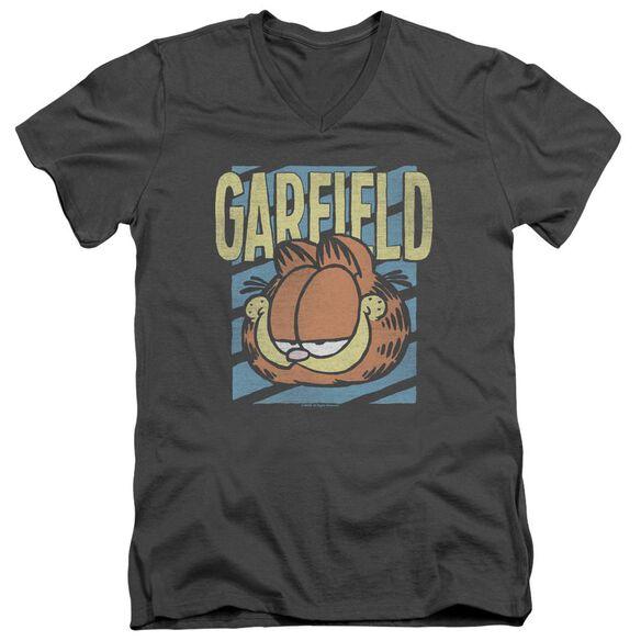 Garfield Rad Garfield Short Sleeve Adult V Neck T-Shirt