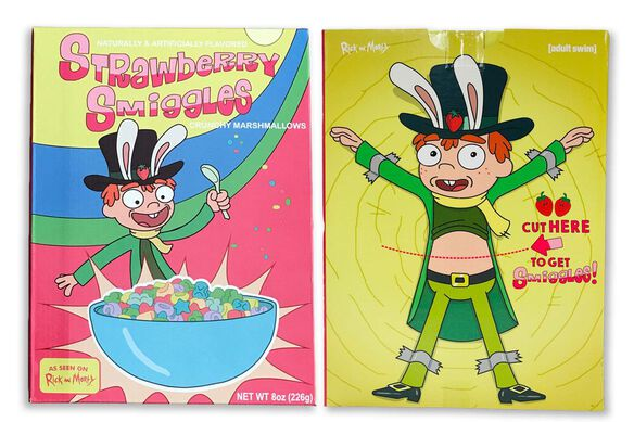 Rick and Morty Exclusive Strawberry Smiggles Cereal