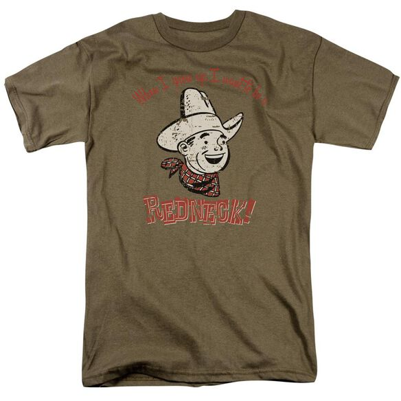 Redneck Short Sleeve Adult Safari Green T-Shirt