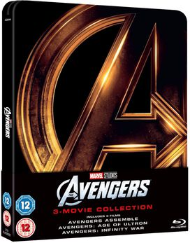 Avengers 1-3 Collection [Zavvi Blu-ray Steelbook]