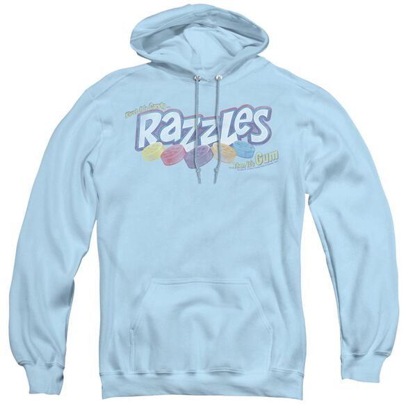 Dubble Bubble Distressed Logo - Adult Pull-over Hoodie - Light Blue
