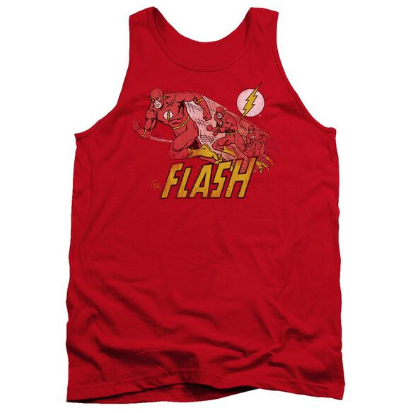 Dc Flash Crimson Comet - Adult Tank - Red