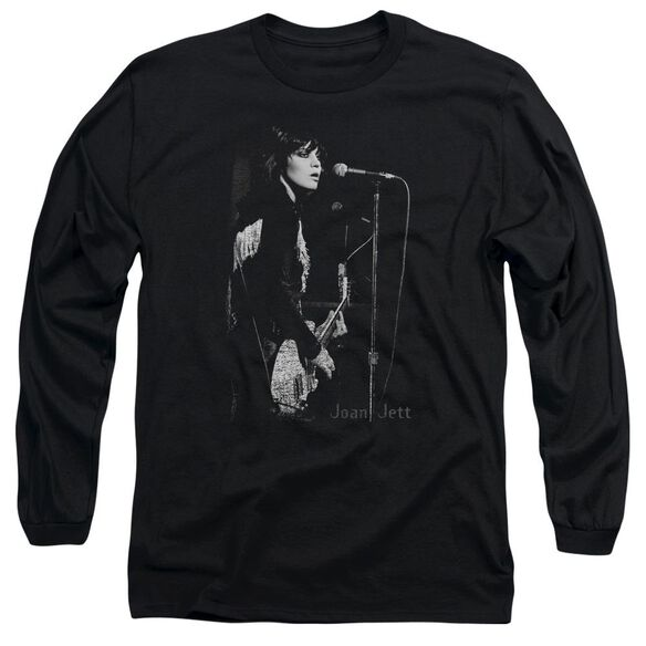 Joan Jett On The Mic Long Sleeve Adult T-Shirt