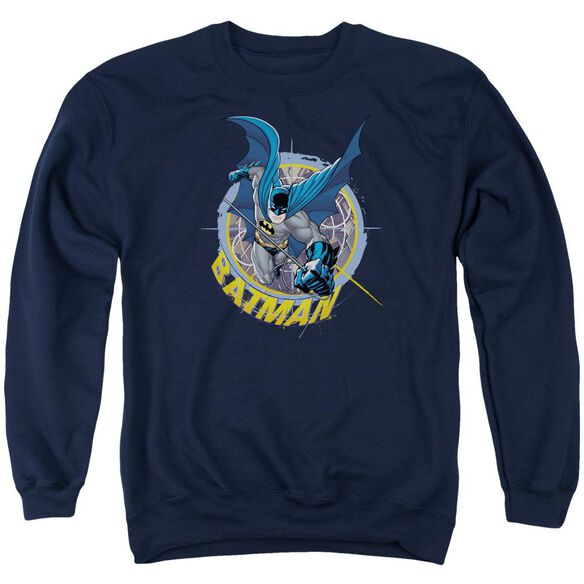 Batman In The Crosshairs Adult Crewneck Sweatshirt
