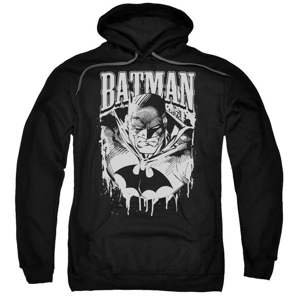 Batman Bat Metal Adult Pull Over Hoodie