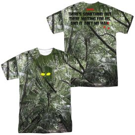 Predator Yellow Eyes (Front Back Print) Short Sleeve Adult Poly Crew T-Shirt