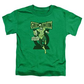 Green Lantern Retro Oath Short Sleeve Toddler Tee Kelly Green Sm T-Shirt
