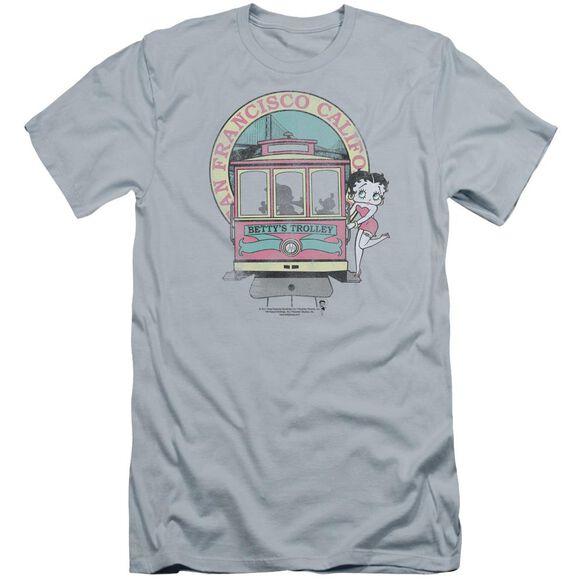 Betty Boop Betty's Trolley Premuim Canvas Adult Slim Fit Light
