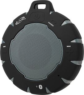 iLive ISBW157B Portable Bluetooth Speaker (Black/Gray)