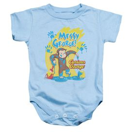 Curious George Messy George Infant Snapsuit Light Blue Lg Light Blue Lg