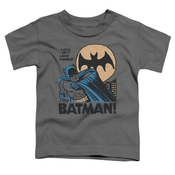 Dc Look Out Short Sleeve Toddler Tee Charcoal T-Shirt